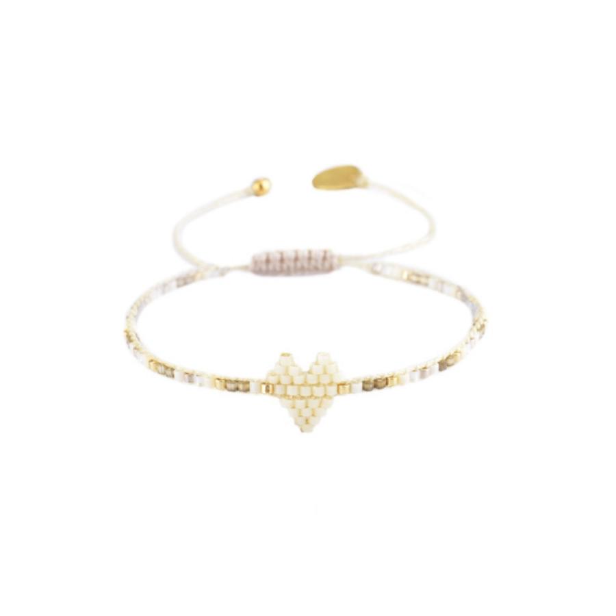 Bracelet heartsy row blanc