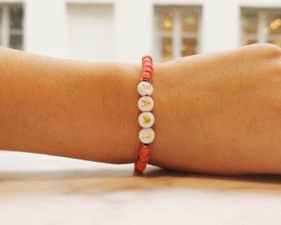 bracelet love corail