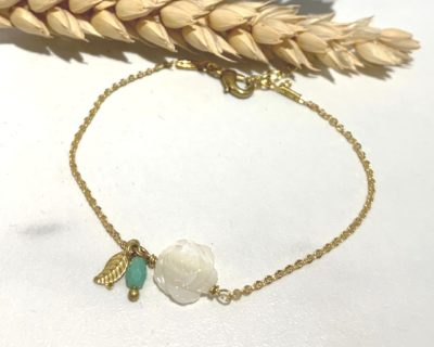 Bracelet rose blanche