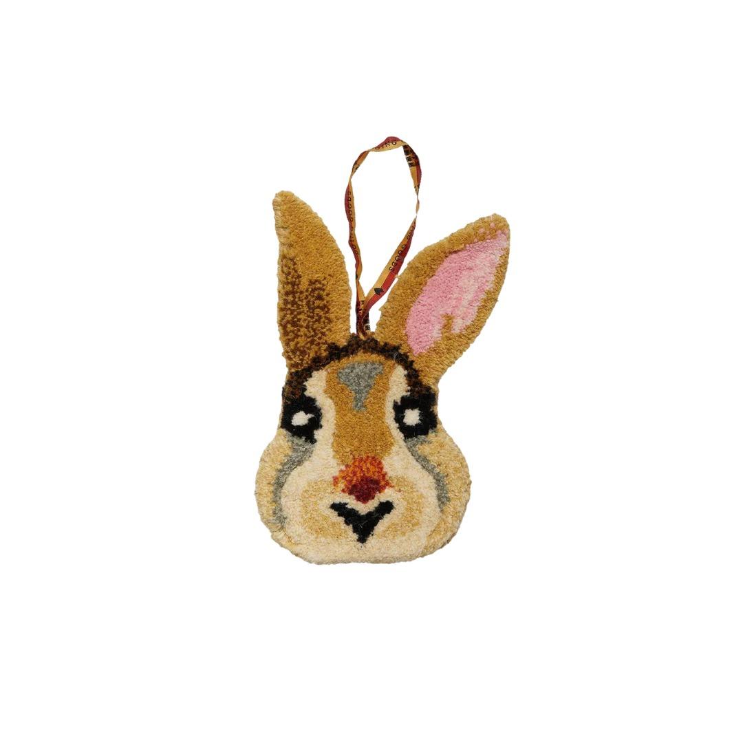 décoration laine lapin