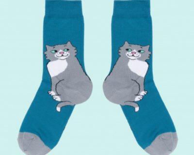 chaussette chat mignon