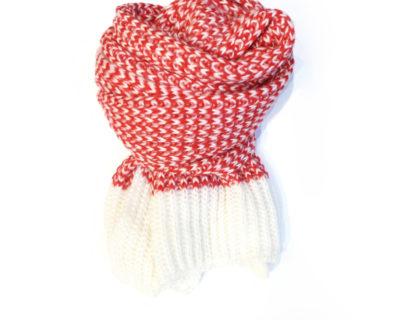 écharpe vichy rouge