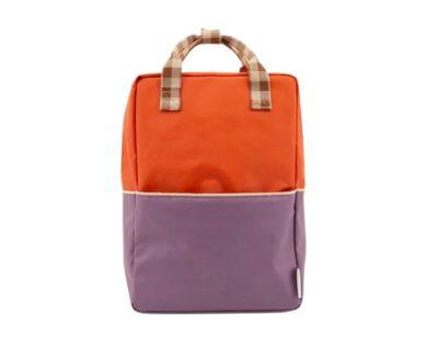 sa à dos orange et violet